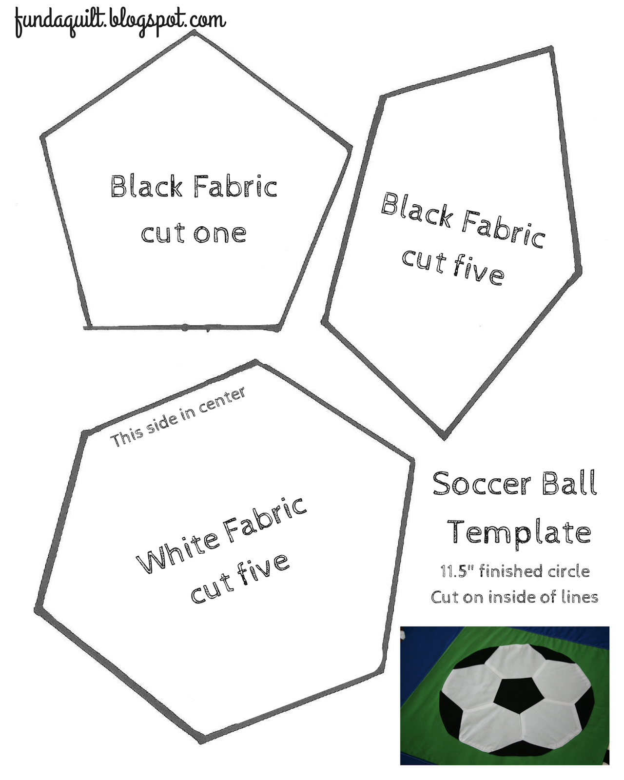 quilted soccer ball brights on white