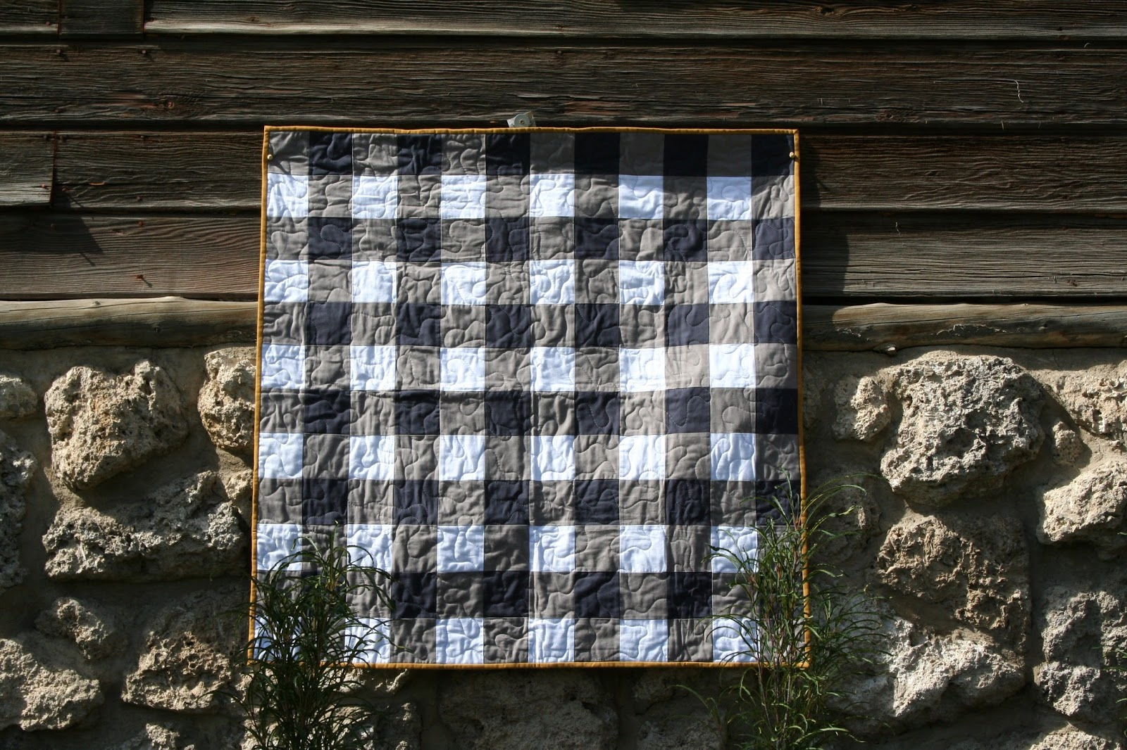 Gingham Quilt Pattern Brights On White