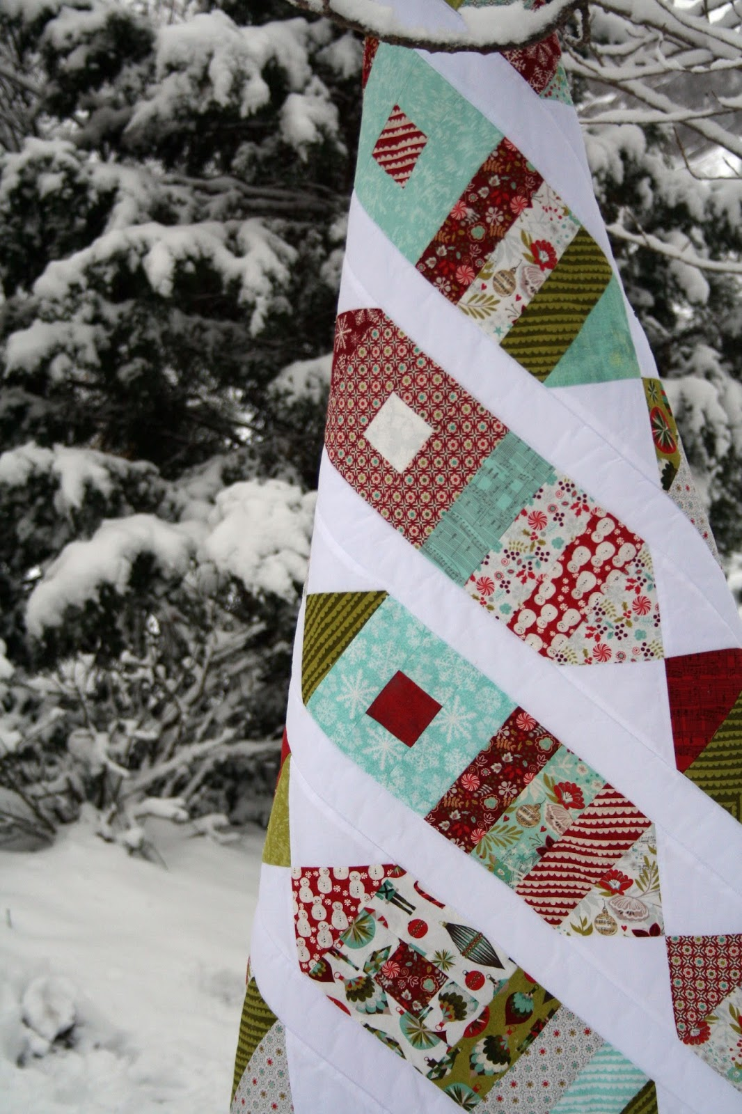 Favorite Christmas Patterns Brights On White