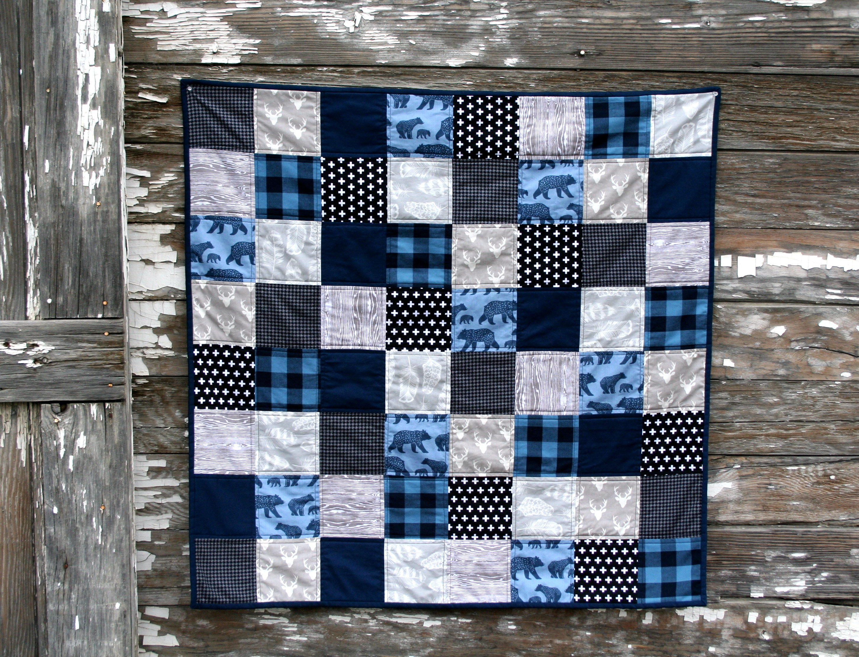 Simple Baby Quilt Tutorial Brights On White