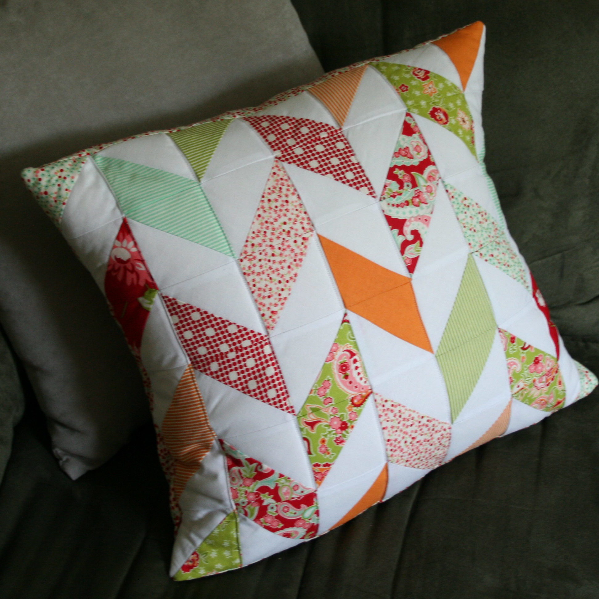 herringbone pillow cover