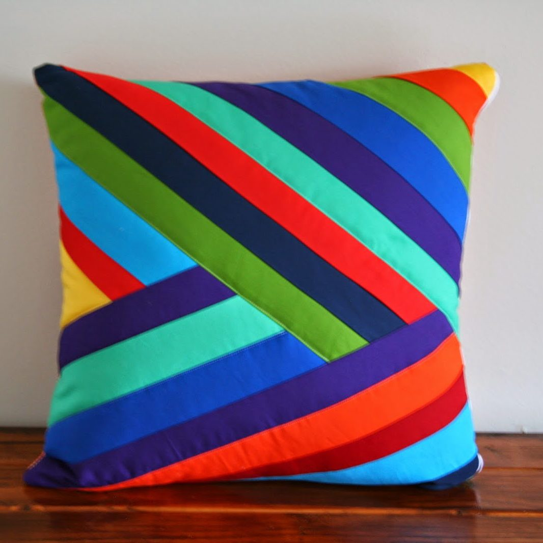 Falling Rainbow Pillow Cover