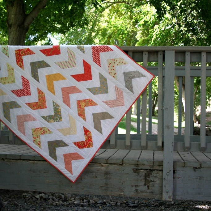Free Quilt Patterns - Brights on White